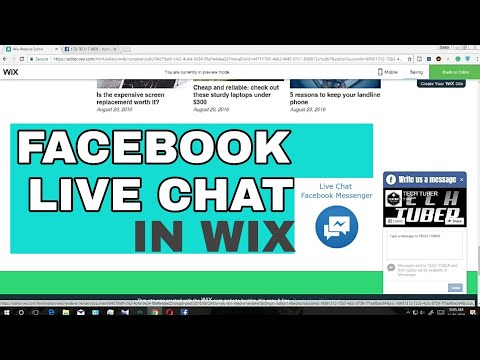FACEBOOK LIVE CHAT IN WIX WEBSITE