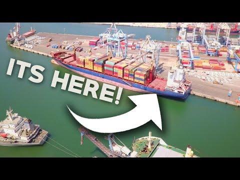 CARGO SHIP CAME EARLY! – Cargo Ship Travel Vlogs