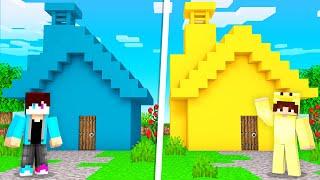 HUIS BOUWEN In 1 KLEUR CHALLENGE! (Minecraft)