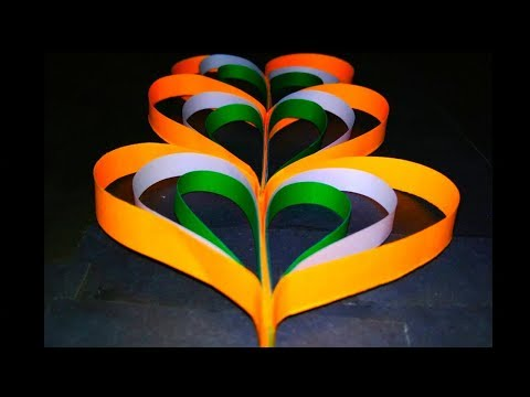 Tricolour Craft ideas   Independence Day Decoration Craft   Paper Cutting Art