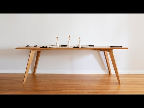 DIY Dining Table | Mid Century Modern - Woodworking