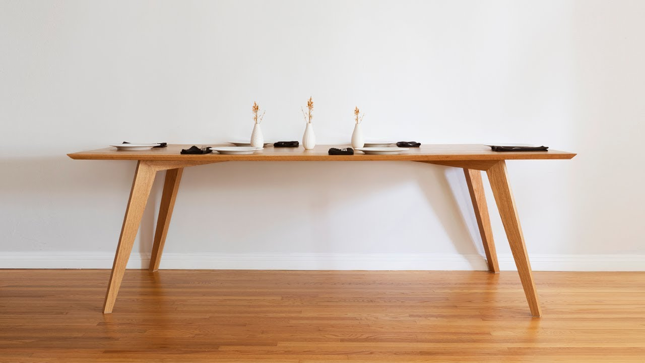DIY Dining Table | Mid Century Modern - Woodworking - YouTube