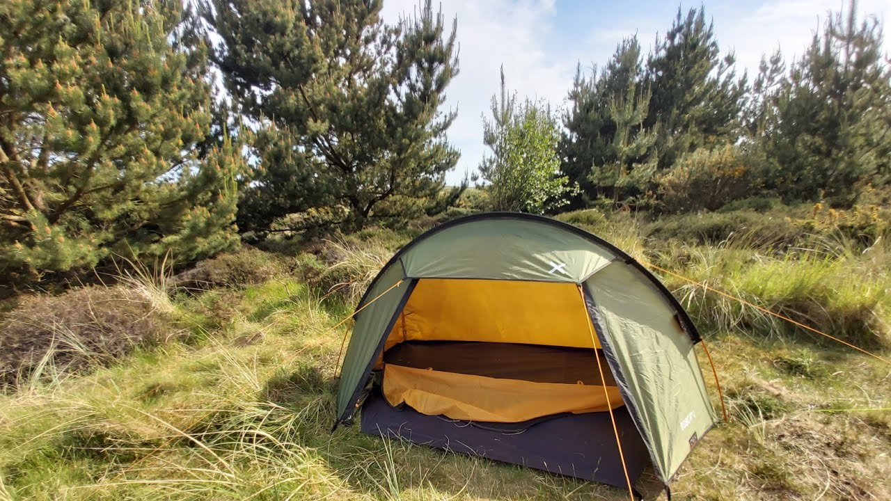 Oex Bobcat 1 One Man Tent For Wild Camping Scotland - YouTube