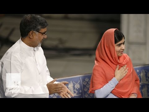 Malala Yousafzai and Kailash Satyarthi receive their Nobel Peace Prizes | Mashable