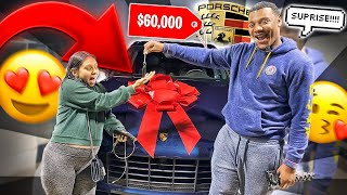 SURPRISING MY GIRLFRIEND WITH HER DREAM CAR ** very emotional**