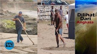 Orang ini Menggaris Pantai Selama Berhari hari, Setelah Dilihat dari Langit Ternyata Membentuk ...