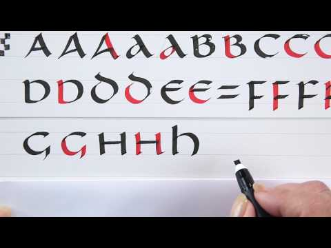 A Beginner's Guide To Uncial Calligraphy A-P With Janet Takahashi