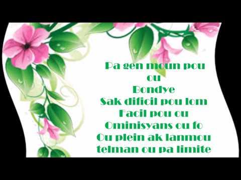 Pa gen moun pou ou Bondye- Rebecca Francois Lyrics