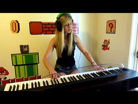Lara plays 'Kraid's Lair' from Metroid (NES) on piano