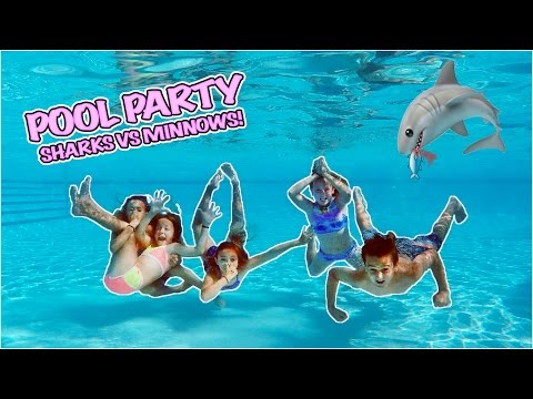 EPIC AFTER SCHOOL POOL PARTY!! PLAYING SHARKS AND MINNOWS!