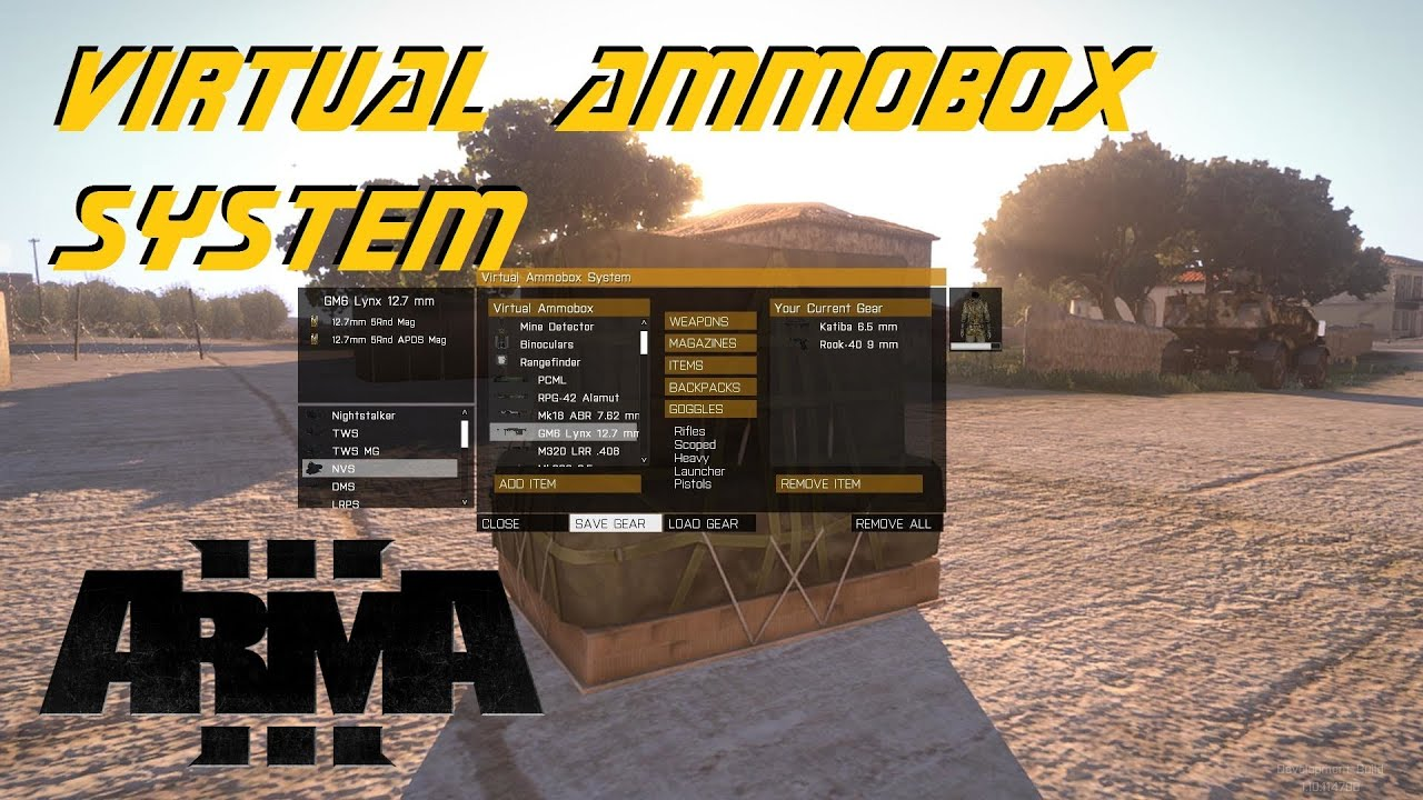 how to get virtual arsenal in arma 3