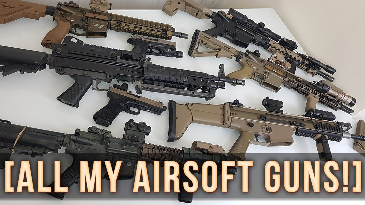 MY AIRSOFT ARMOURY! | ALL MY AIRSOFT GUNS!