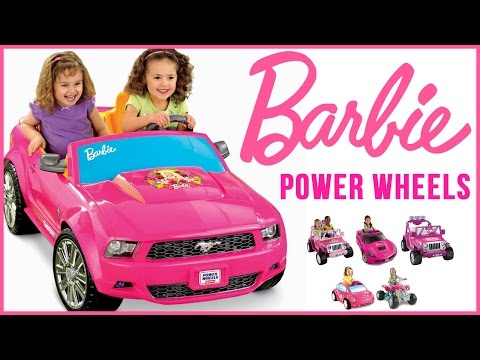 Barbie Power Wheels: Barbie Jeep - Mustang - Kawasaki And More