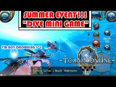 トーラム| Toram Online - Summer Ocean Event 2018/Diving Mini Game/HQ 60FPS
