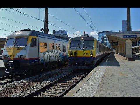 Treinen in Bruxelles-Nord (Brussel Noord) - 17 juli 2015
