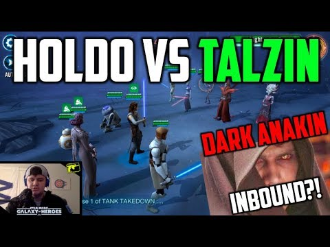 SWGOH : Holdo Vs Talzin- the Answer got JTR Teams?? +DS Anakin Inbound?