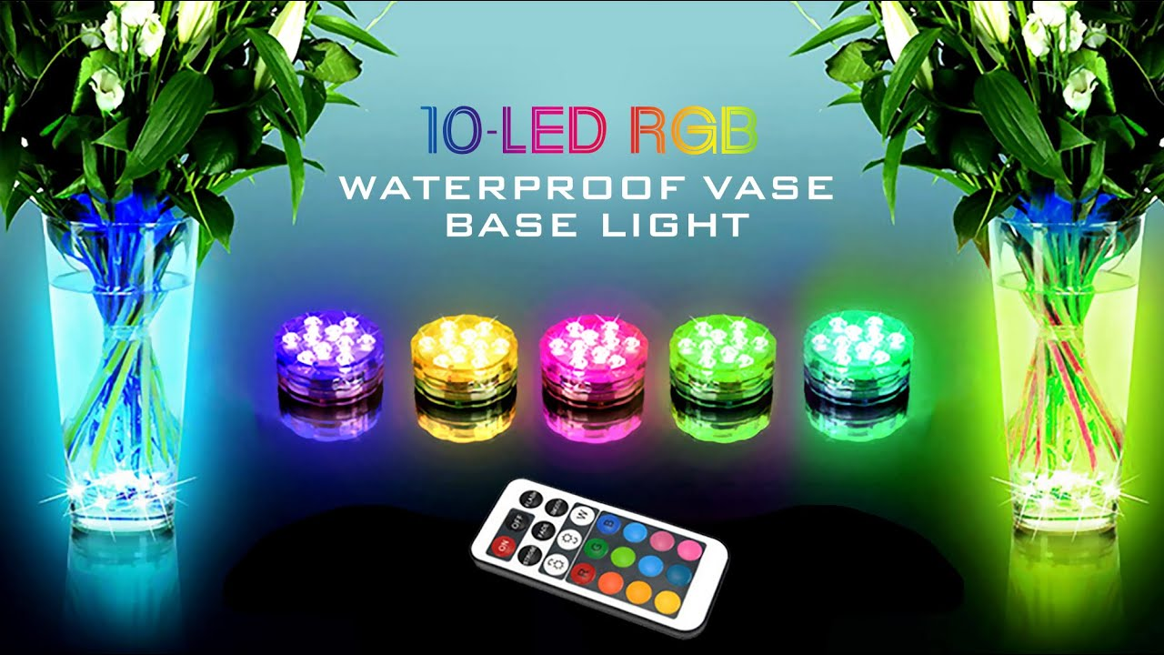 10 led rgb waterproof vase base light youtube reviewsmspy