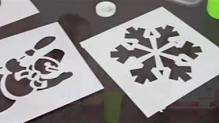 Вырежи снежинку и Трафареты на окна - Roskokids
