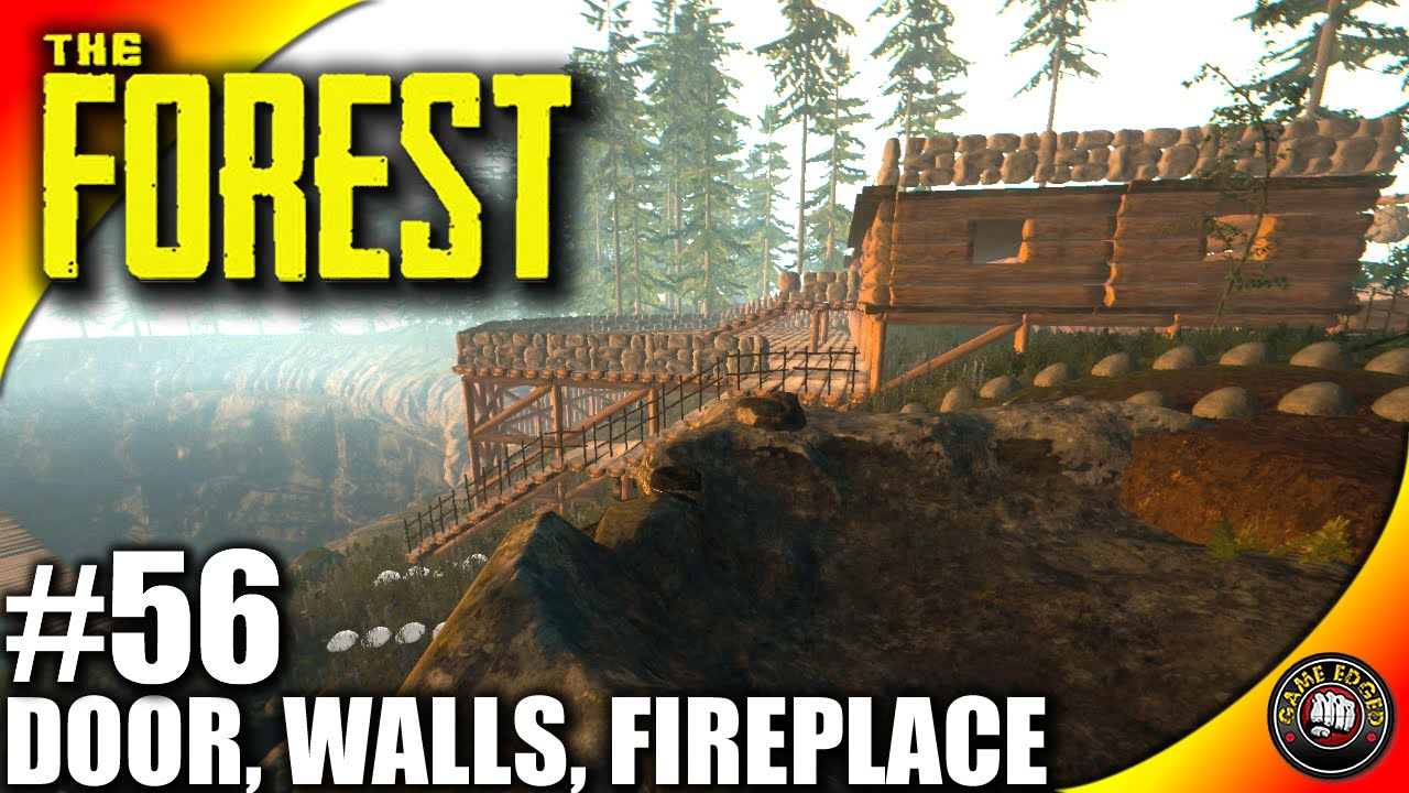 the forest gameplay kitchen sink walls door fireplace let u0027s