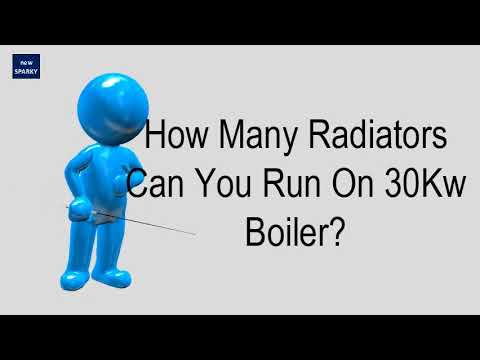 How Many Radiators Can You Run On 30Kw Boiler?