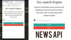 How to create a search engine to search for news  - News API | using Jquery