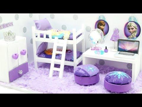 DIY Miniature Dollhouse  - FROZEN Anna & Elsa Bedroom (NOT A KIT!)