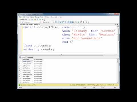 SQL CASE