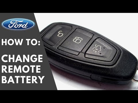 BEST And SAFE : How To Change Ford Keyless Remote Key Battery - Focus Kuga C-Max Mondeo Fiesta