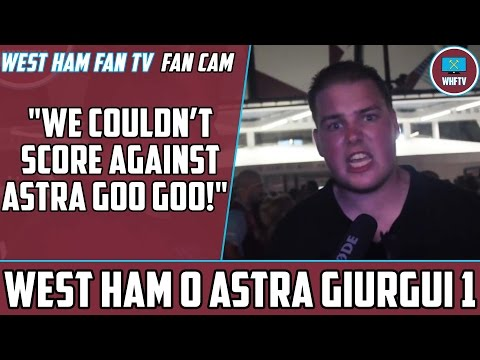 """we are arrogant and a disgrace"" dom rants!!!!! west ham 0 astra 1"