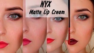 NYX | Soft Matte Lip Cream | СВОТЧ - ОБЗОР | MsAllatt