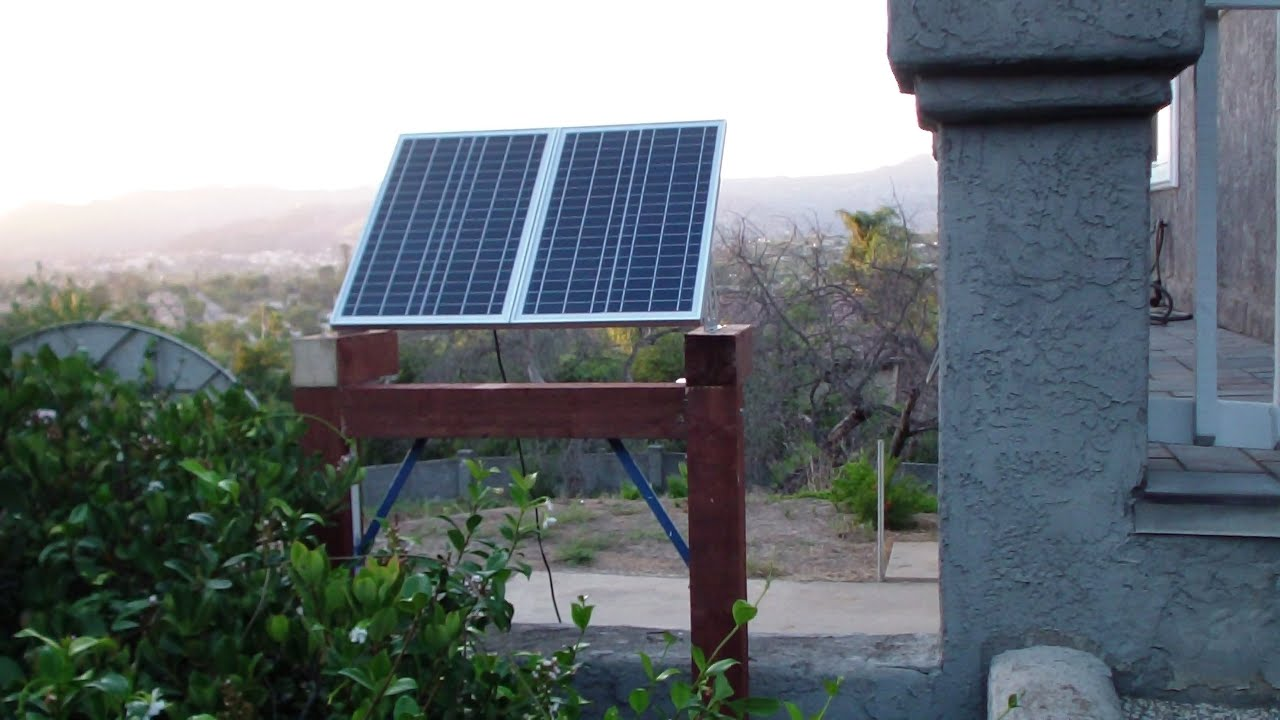 Solar Panel Mounting Frame Diy Construction Youtube