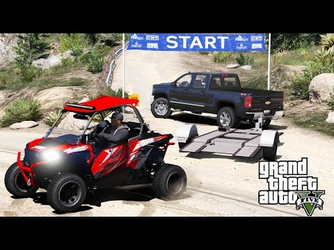 ANOTHER DAY AT WORK #16 GTA 5 REAL LIFE MOD TAKING OUR POLARIS PZR TO A OFF ROAD RALLY TRACK