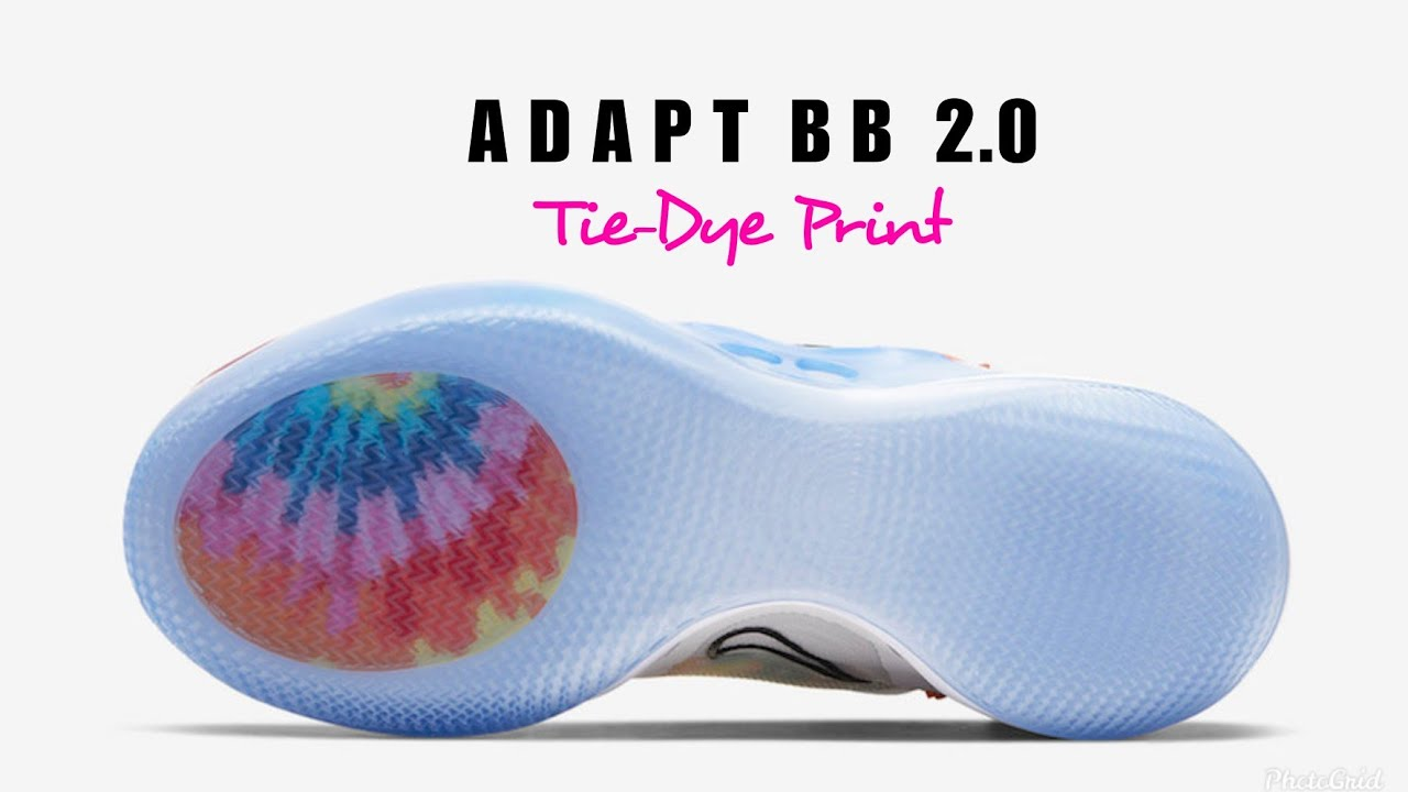 Nike Adapt Bb 2 0 Tie Dye Print First Look Release Date Description Section Youtube