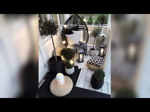 Wonderful  small Apartment Balcony decor Ideas With beautiful plants