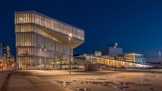 Deichman main library in Oslo - Day to Night Slice Time-lapse