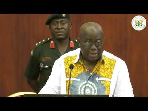 Ghana's President Akufo Addo meets the press