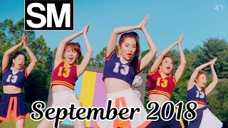 [TOP 100] Most Viewed SM Kpop MVs [September 2018]