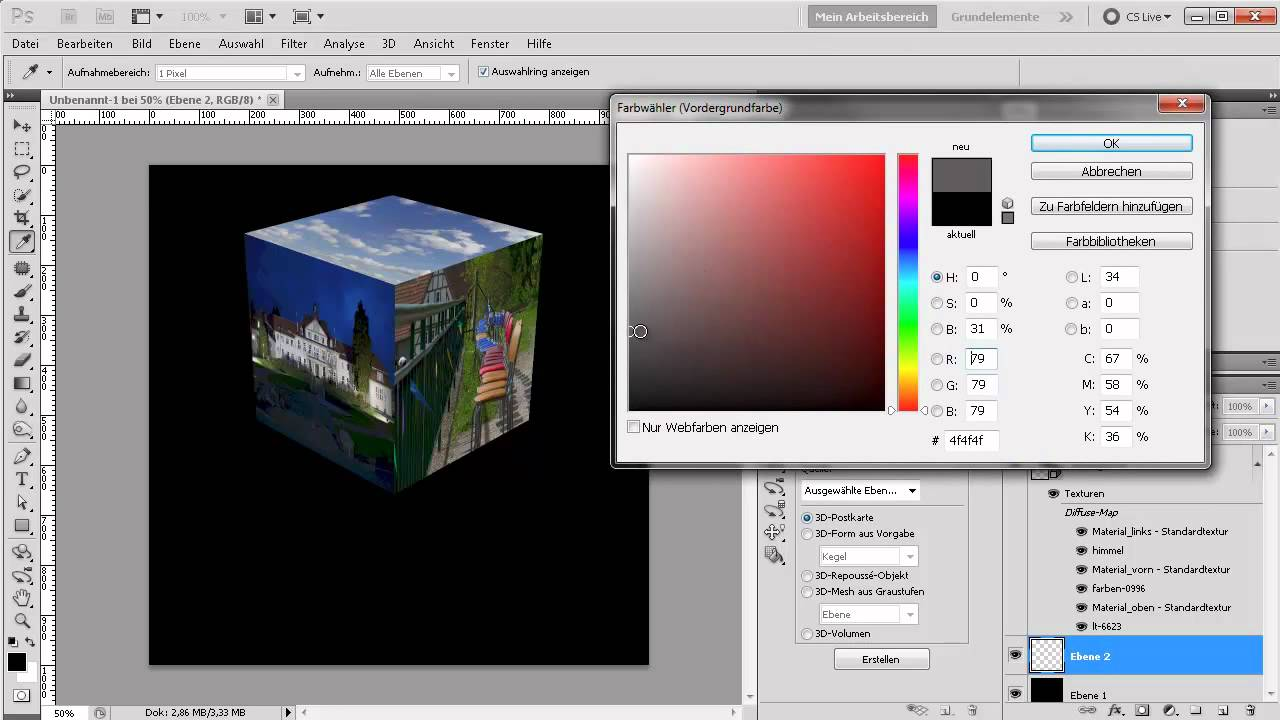 124 Photoshop Extendet Tutorial 3d Fotowürfel Erstellen Youtube