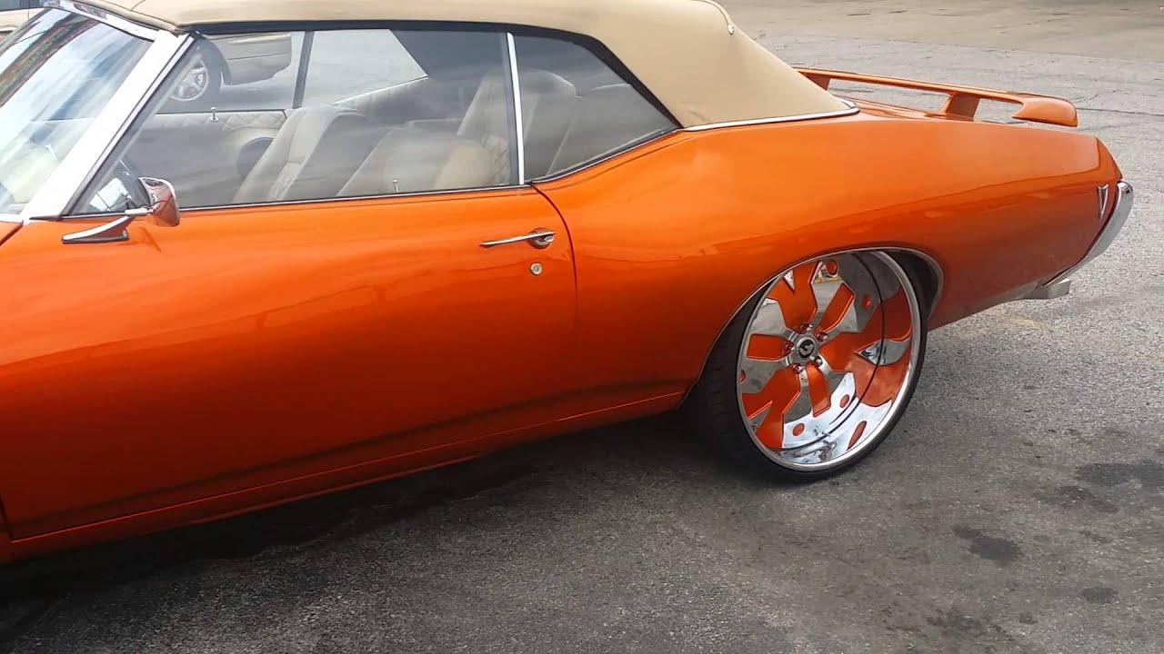 Kandy Orange 68 Pontiac Lemans On Staggered 24 Forgiato