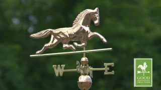Good Directions 623p Patchen Horse Weathervane - Polished Copper