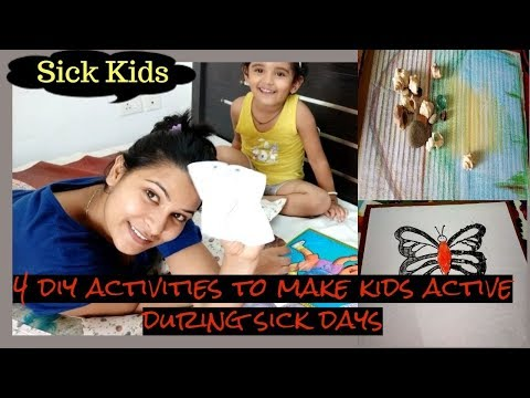 4 sick day activities for kids to try at home || fun DIY || make kids active during their sickness
