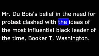 Biography - BW -  W.E.B. Du Bois - African-American writer, teacher and protest leader
