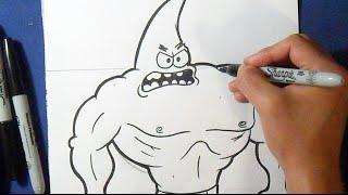 Como desenhar o Patrick Estrela