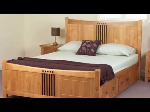 King Size Wood Bed Frame Modern Designs