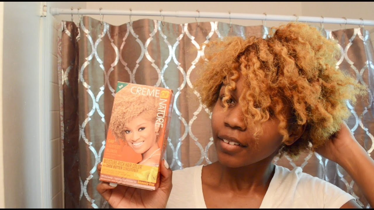 Going Back Blonde W Creme Of Nature Lightest Blonde Hair