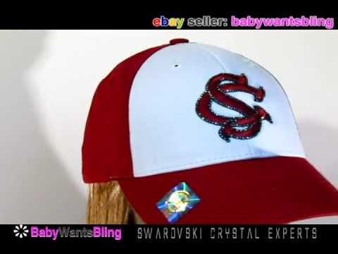 South Carolina Gamecocks Hat Cap With Swarovski Crystal Bling