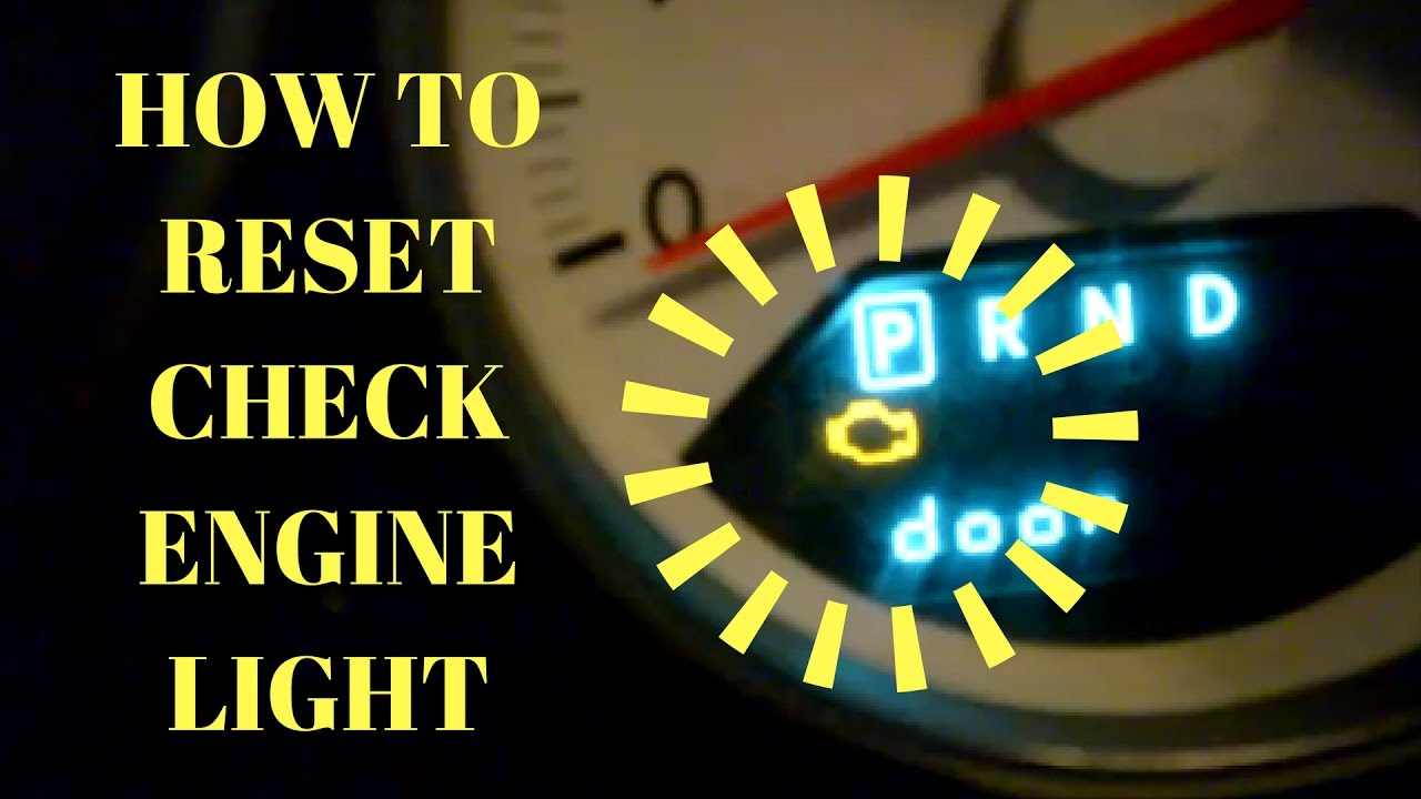 diy how to reset your check engine light without a scan tool for free youtube. Black Bedroom Furniture Sets. Home Design Ideas