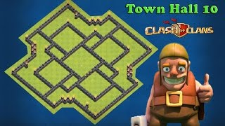 TH10 Hybrid/Trophy Base Defense/Town Hall 10 Setup Layout 2016/Clash of Clans TH10 Design 275 Walls