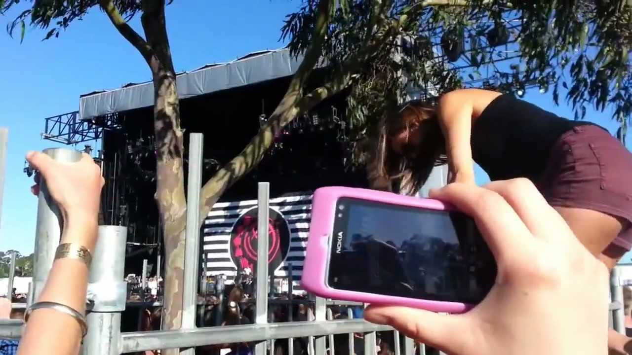 Girl Wedgies Herself Jumping A Fence Blink  Melbourne Soundwave