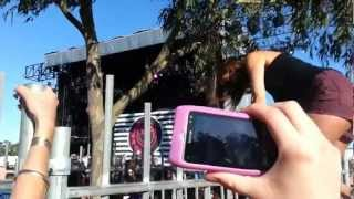 GIRL WEDGIES HERSELF JUMPING A FENCE, BLINK 182 MELBOURNE SOUNDWAVE 2013 thumbnail